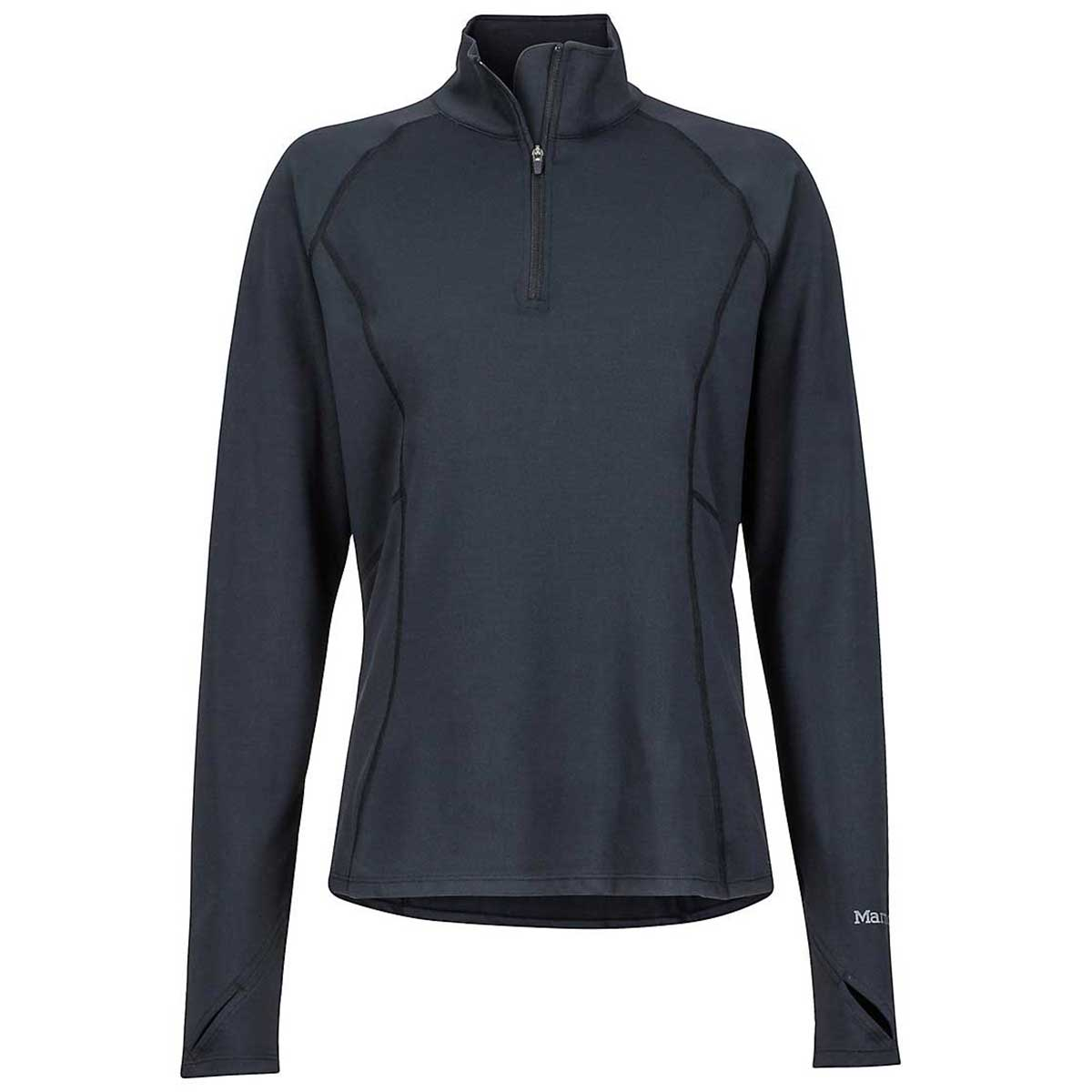 Marmot Midweight Meghan 1/2 Zip Top in Black